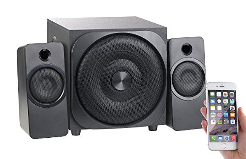 auvisio 2 1 PC Lautsprecher: Klangstarkes 2.1-Lautsprecher-System mit Bluetooth, Subwoofer, 60 Watt (2.1 Soundsystem Bluetooth)