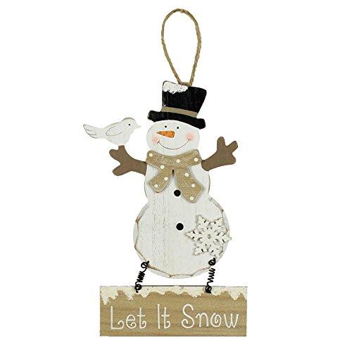 ild zum Aufhängen Schneemann Merry Christmas Dekoration-Let it Snow ()