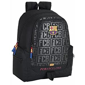 Safta Mochila juvenil F.C.Barcelona Black Oficial 320x170x430mm