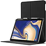 Forefront Cases Samsung Galaxy Tab S4 10.5 Hülle | S-Pen Stifthalter | Magnetische Samsung Galaxy Tab S4 10.5 Zoll Tablet-PC SM-T830/T835 Cover | Smart Auto Schlaf Wach | Dünn Leicht | Schwarz
