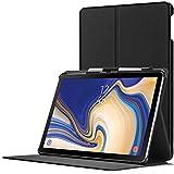 Forefront Cases Samsung Galaxy Tab S4 10.5 Hülle | Integrierter S-PEN Stifthalter & Stylusschutz | Magnetische Samsung Galaxy Tab S4 10.5 Zoll Tablet-PC SM-T830/T835 Cover | Automatische Schlaf-Wach-Funktion | Dünn Leicht | Schwarz + Stylus & Displayschutzfolie