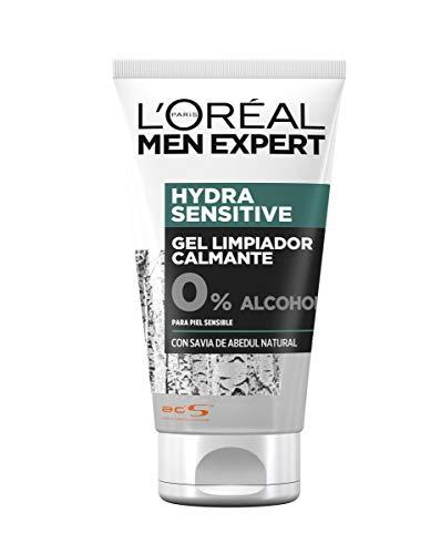L'Oréal Paris Men Expert Hydra Sensitive Gel Limpiador Calmante para Piel Sensible - 150 ml