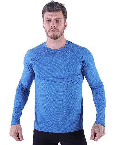 H.MILES Herren Longsleeve Shirt Mens Quick Dry Shirt Langarm Trainingsshirt Funktionsshirt Running Sweatshirt Pullover Laufshirt