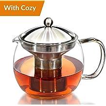 Willow & Everett Cafetera tetera con infusor de té caliente - pote del té y conjunto