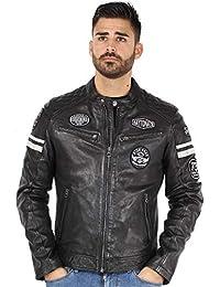 178a3ccdeb2 Amazon.fr   cuir - Daytona   Manteaux et blousons   Homme   Vêtements