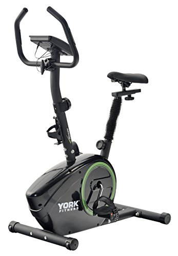 York Fitness Active 110 Exercise Cycle - Black/Green