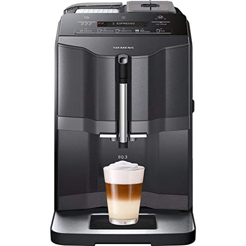 Siemens TI313219RW - Cafetera (Independiente, Máquina espresso, 1,4 L, Molinillo integrado, 1300 W, Negro, Plata)