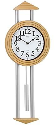 Mebus Wall Gents and Ladies Watch Quartz Pendulum Wall Clock Analogue Light Brown 14950 - cheap UK light shop.