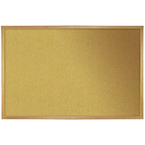 Ghent 36 x 60 Wood Frame 1/2 Premium Natural Cork Bulletin Board (06614) by Ghent