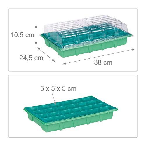 "3/"" 15 x 7cm trasportare vassoi per 7cm SQUARE Plastica Pianta Pentole contiene 15"