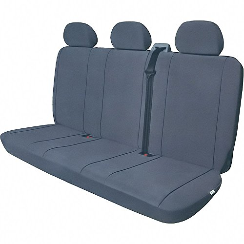 Preisvergleich Produktbild HP Sitzbezug VAN 3 Sitzbank Inklusive 3 KOPFSTUETZENBEZ grau