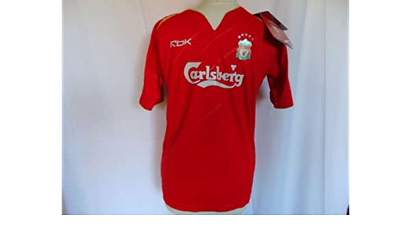 27941d395 Reebok 2005-2006 Liverpool FC Home Champions League Shirt Child Large 152cm  BNWT  Amazon.co.uk  Sports   Outdoors