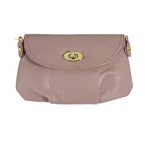 SODIAL(R)Donne borsa a mano borsa a tracolla Totes Borse Messenger verde scuro rosa