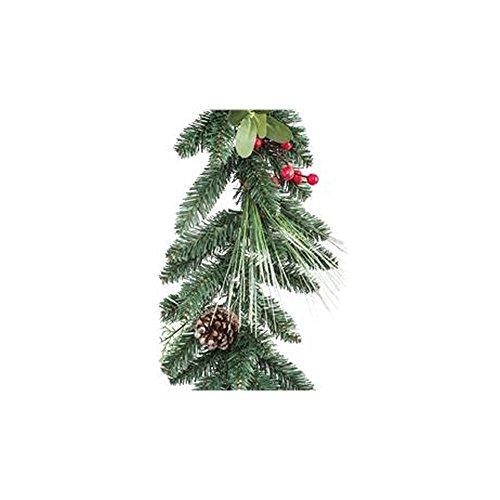 Boa 270cm con pigne e bacche festone ghirlanda natalizio