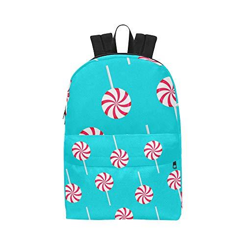 Süßer Zucker Lollipop Candy Classic Netter wasserdichter Laptop Daypack Taschen School College Kausal Rucksäcke Rucksäcke Bookbag für Kinder, Frauen und Männer Reisen mit Reißverschluss