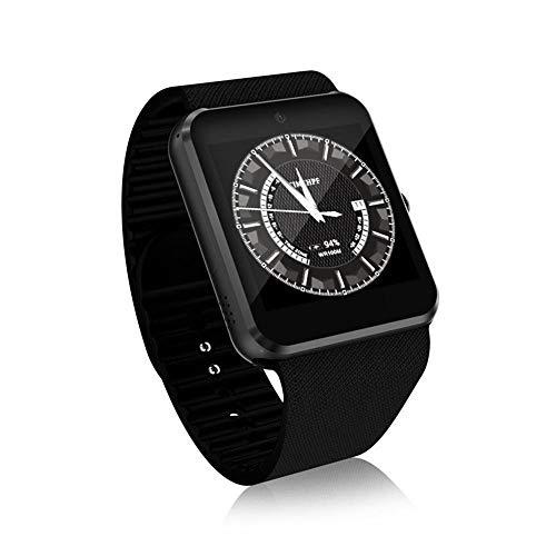 FOONEE Smart Voice Converter Armbanduhr mit 1,3 MP Kamera 480 mAh wiederaufladbarer Akku multifunktional 3G WLAN Smartwatch unterstützt TF-SIM-Karte, Spielen, Musik-Play und Telefonanrufe (Schwarz) -