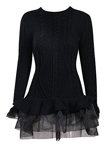 Missord - Gilet - Décontracté - Manches Longues - Femme Noir