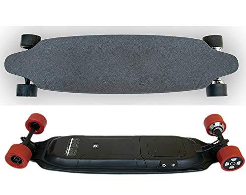 WAYPGC Elektrisches Longboard-Skateboard, elektrisches Skateboard mit Fernbedienung, 600-W-Dual-Drive-Motor, max -