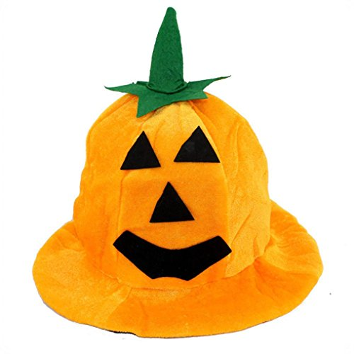 Jahre 70er Plus Kostüme Halloween Size (Kappe Halloween Von Xinan Cos Kürbis Hut Kürbis Motive lint Top Orange Hüte (❤️,)