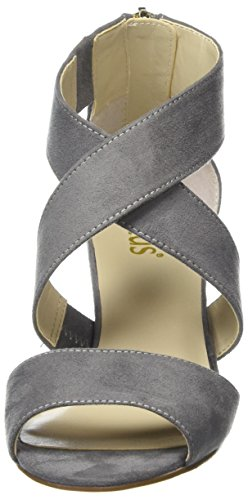 Lotus Damen Cheeney Knöchel-Wedge Sandalen Grau (grey Micro)