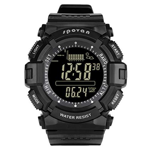 Luckiests Sport-Uhr Damen Herren Outdoor Angeln rundes Zifferblatt Armbanduhr Altimeter-Barometer-Thermometer