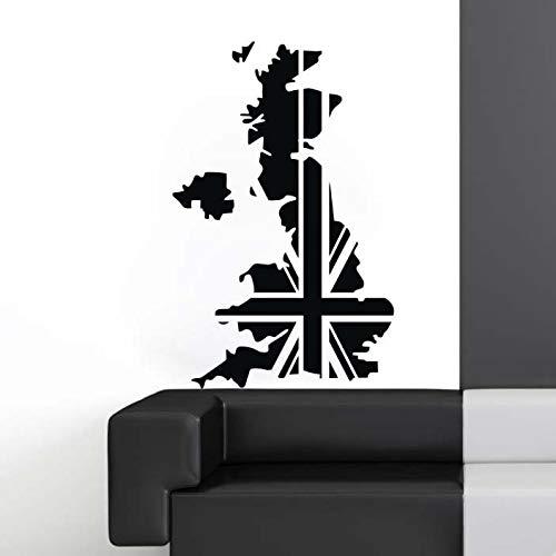 Mapa Reino Unido Sticker Decal Posters Cafetería