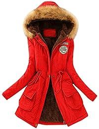 K-youth® Abrigos De Mujer Invierno, Caliente Parkas Militar con Capucha Chaqueta de