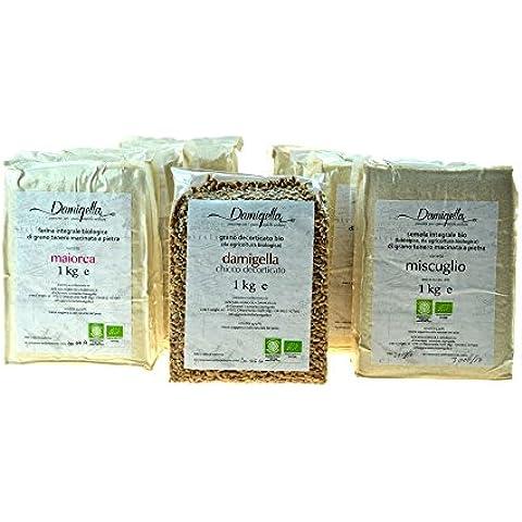 Confezione Gastronomica Contessa Nera Assaggio Cesto Gourmet con Farine e Semole Biologiche Certificate Tradizionali di Grani Antici di Sicilia