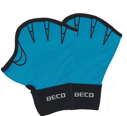 Aqua Fitness-Handschuhe, offen Paar, S, Türkis