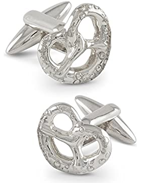 ZAUNICK Brezel Manschettenknöpfe Silber 925 handgefertigt