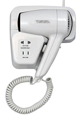 terratek-wall-mounted-electric-bathroom-hair-dryer-950w-2-heat-settings-integrated-shaver-socket-whi