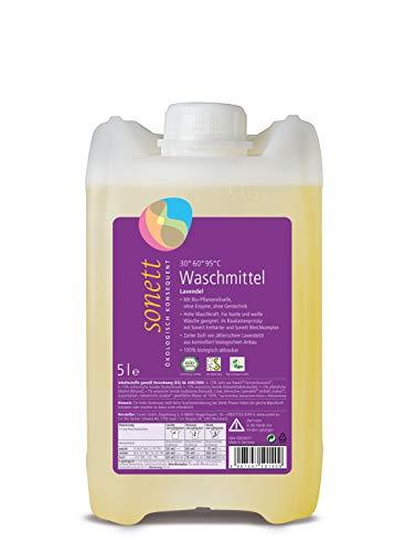 Waschmittel Lavendel: Für bunte und weiße Wäsche, mit Bio-Pflanzenölseife -