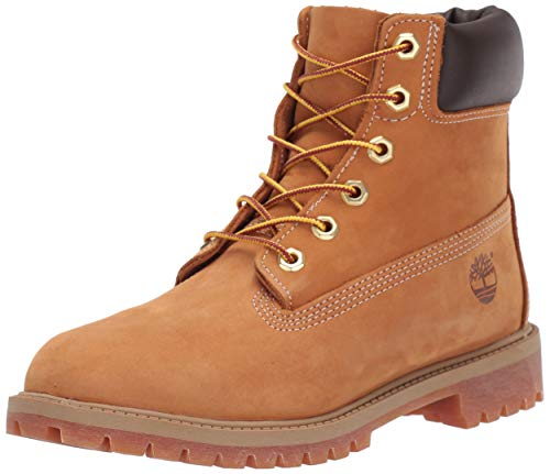 Timberland C12809 6 Inch Premium WP Mädchen Boots aus Nubukleder Gummiprofil, Groesse 29, Cognac Wp Work Boot