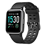 Willful Smartwatch,Fitness Armband mit Pulsuhr 1,3 Zoll Touchscreen Fitness Uhr 5ATM Wasserdicht Fitness Tracker Sportuhr mit Schrittzähler Stoppuhr Smart Watch für Damen Herren für iOS Android Handy