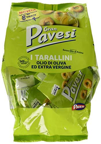 Gran Pavesi Snack Tarallini Olio di Oliva Extravergine - 8 Pacchetti (256 gr)