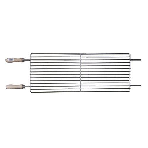 Zypern BBQ Barbecue verstellbar flach Grill Grillrost für Standard anthrazit foukou Edelstahl–NEU