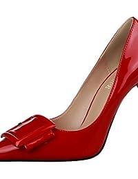 LvYuan-ggx Zapatos de mujer-Tac¨®n Stiletto-Tacones-Tacones-Vestido / Fiesta y Noche-Semicuero-Negro / Morado / Rojo / Blanco / Gris , white-us8.5 / eu39 / uk6.5 / cn40 , white-us8.5 / eu39 / uk6.5 / cn40