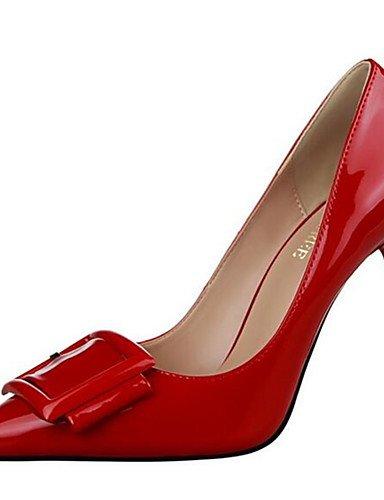 WSS 2016 Chaussures Femme-Habillé / Soirée & Evénement-Noir / Vert / Violet / Rouge / Blanc / Gris-Talon Aiguille-Talons-Talons-Similicuir gray-us8 / eu39 / uk6 / cn39