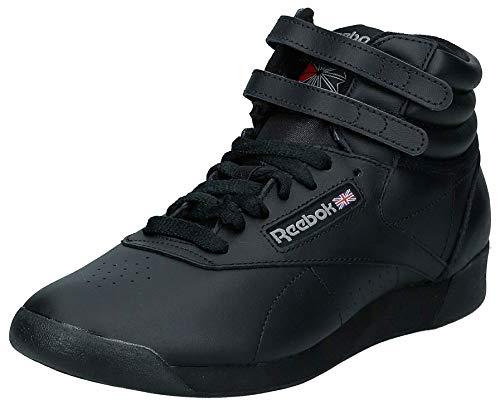 Reebok Freestyle Hi - Zapatillas de cuero para mujer, Negro Black, 39 EU