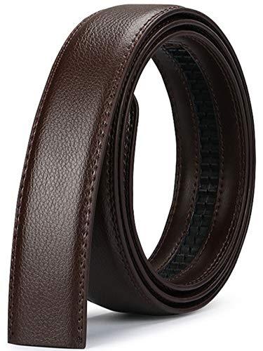 MaxBelt hombres moda lujo cuero cintura cinta automática cintura correa sin Hebilla, 3,5 cm de ancho (Color 4, 130cm/34-44' cintura ajustable)