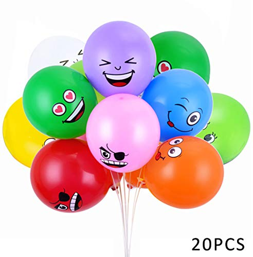 Emoji Party Balloons Latex Ballo...
