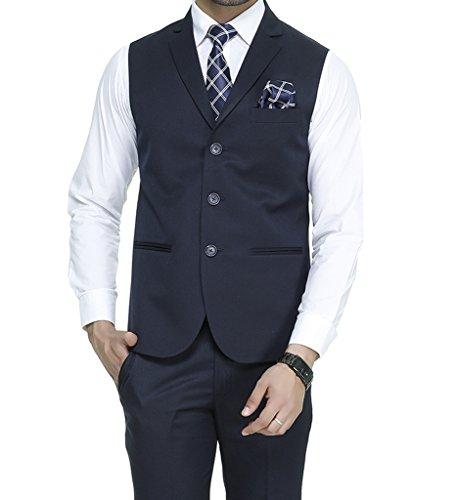 ManQ Men's Single Breast Three Button Slim Fit Formal/Party Waist coat (S1)