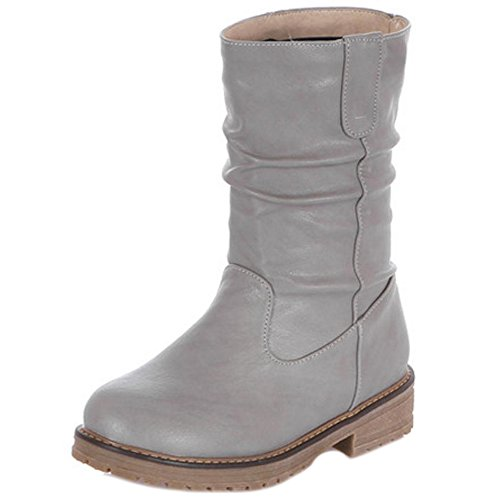 RAZAMAZA Stivali Donna Pull On Gray