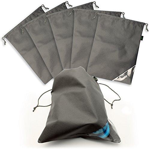 CampTeck 6 Pezzi Borse Scarpe Non Tessuto Organizzatori Sacchetti Scarpe Antipolvere con Cordone da Viaggio �C Grigio xQZ6BQm