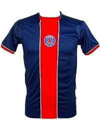 PSG - Maillot de Football Homme PSG Officiel - Bleu, Rouge