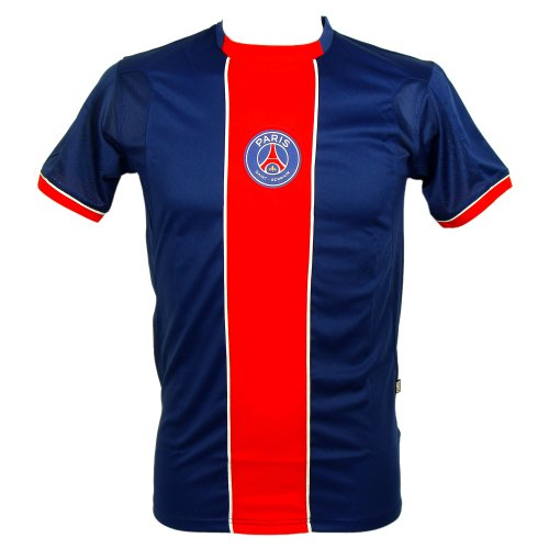 PSG - Maillot de Football Homme PSG Officiel - Bleu, Rouge