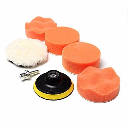 SHINA 7pcs 7,6cm Polieren Pad Auto Polieren Rad Kit (Waffel-pad)