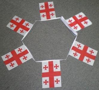 Land Flagge Georgien (6m 20Flagge Georgien Wimpelkette (Land))