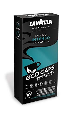 Lavazza 100 Nespresso kompatible Eco Caps Kapseln, kompostierbar, Kaffee Lungo Intenso, 10 x 10er Pack (530 g)