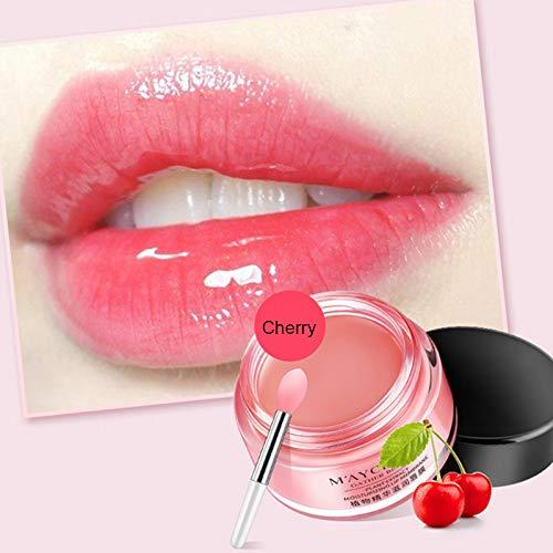 Lip Treatment Balm (Fishyu Lip Sleeping Mask Moisturizing Cherry Balm Overnight Treatment Lips Care 20ml)